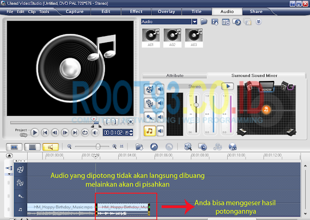 editing audio dengan ulead 3