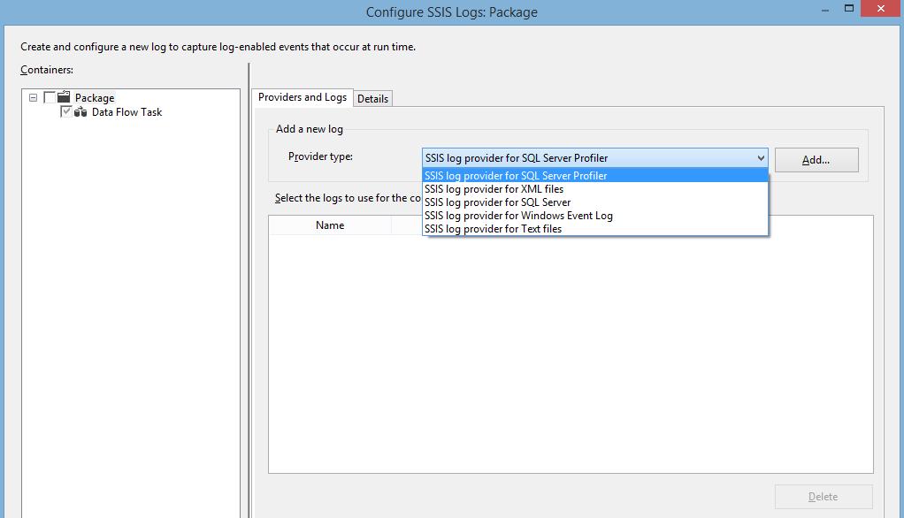 Sql server integration services | how to enable windows event log.