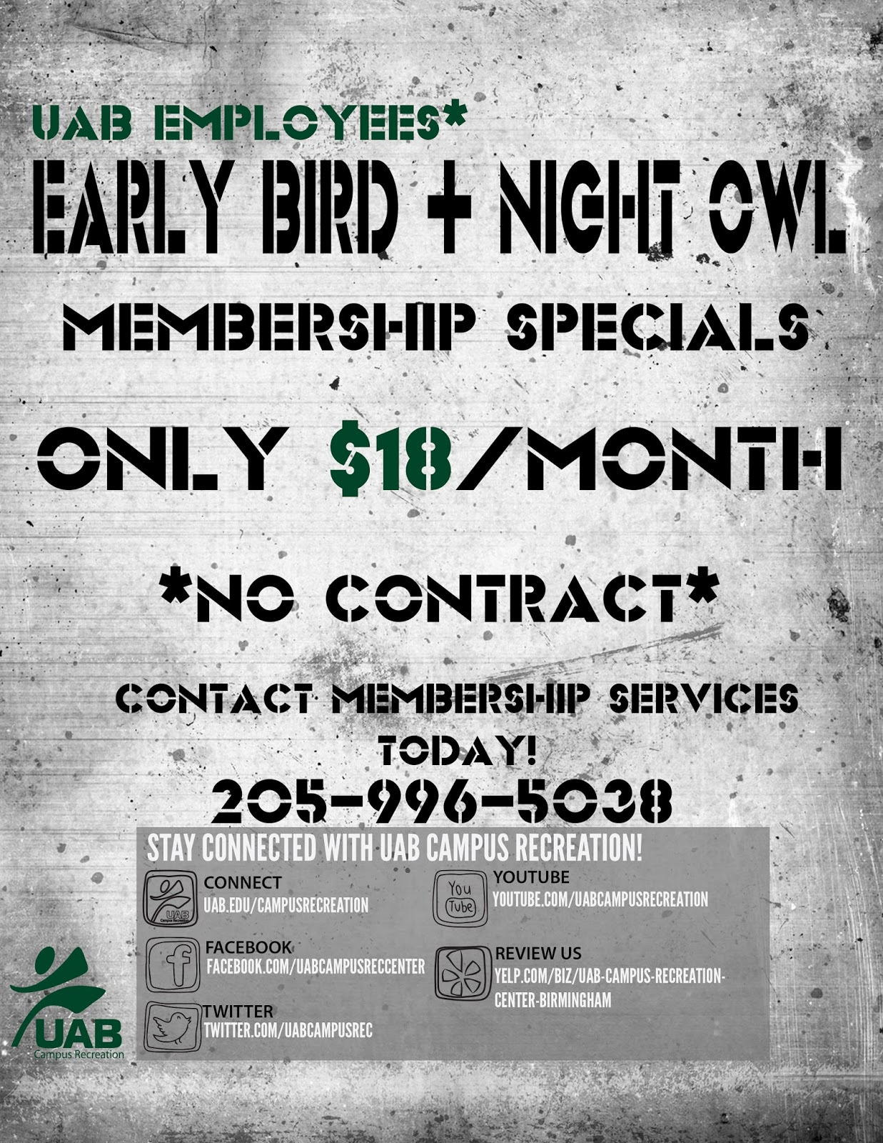 NEW UAB Rec Center Faculty/Staff Membership Discounts | UAB