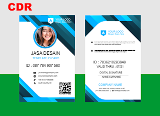 desain id card panitia  employee id card cdr file  id card template cdr free download