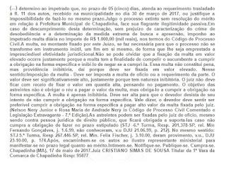 Justiça obriga prefeito de Chapadinha a prestar informações a vereador