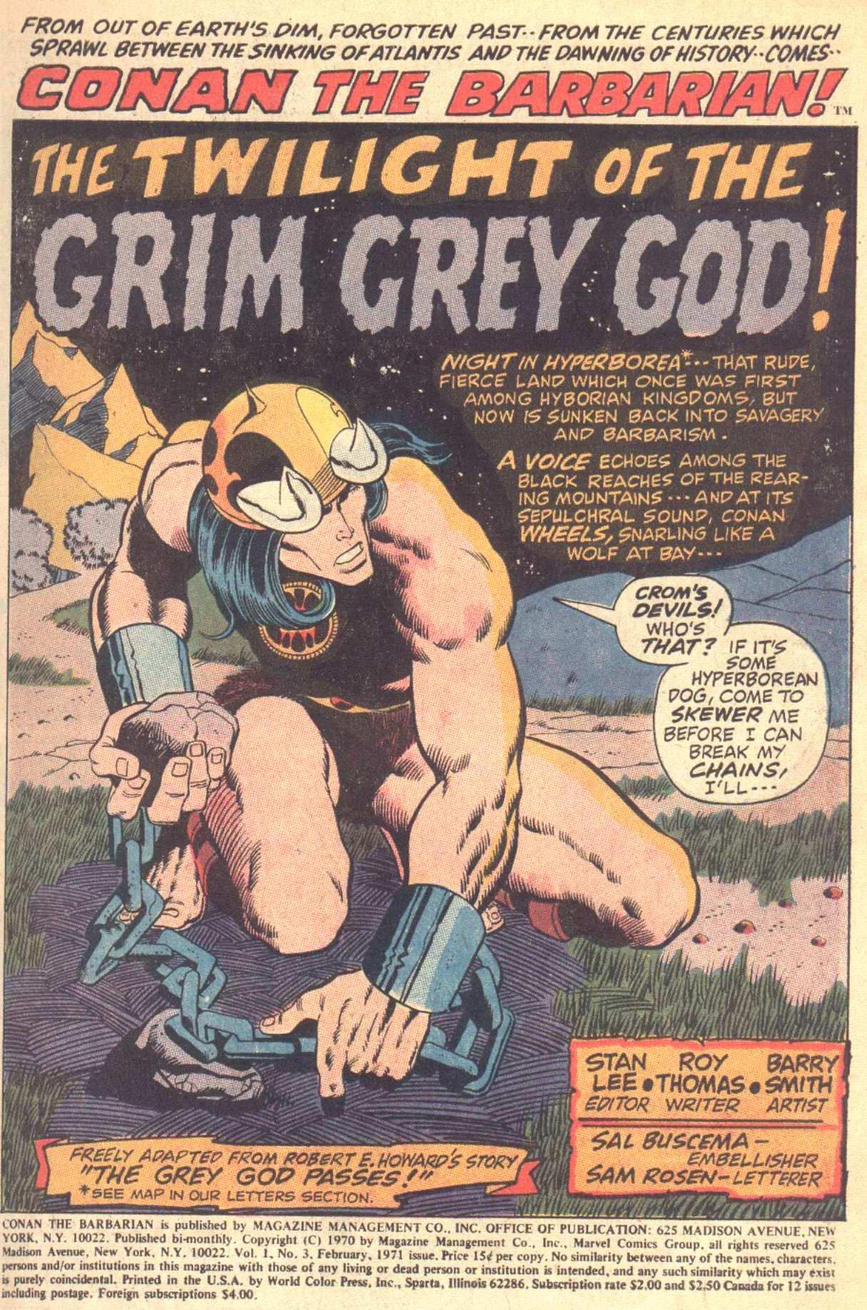Conan the Barbarian (1970) Issue #3 #15 - English 2