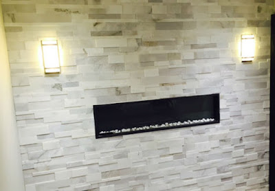 Toronto Stone Wall Fireplace