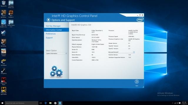 تحميل برنامج تشغيل كارت الشاشة إنتل جرافيكس لنظام ويندوز 10