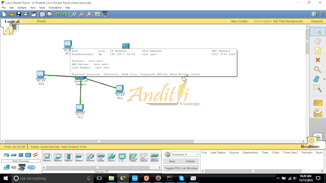 [Tutorial Cisco Packet Tracer 05] Konfigurasi DHCP Server-anditii.web.id