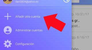 Como agregar mas cuenta de otros correos en Yahoo Mail App