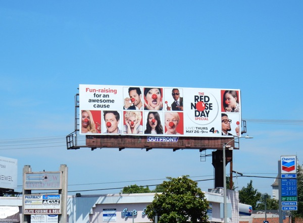 USA Red Nose Day 2016 NBC billboard
