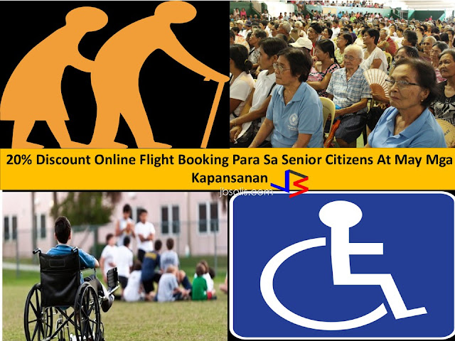Senior citizens are granted several benefits and privileges.   A newly approved discount was realized by Civil Aeronautics Board (CAB). The approved 20% discount for Senior Citizens and PWDs or Person With Disabilities are for all the online flight bookings.  To avail the discount, the airline company has the right to verify the provided identification by the subject. The new resolution will be transpired to all the airline.   Whoever will be found submitting unscrupulous identification will get a revoked discount. What are the other 20% discounts for Senior Citizens?       Medical-related privileges     Domestic transportation privileges     Hotels, restaurants, recreational centers, and places of leisure, and funeral services     Recreations centers     Admission fees privilege     Funeral and burial services  Other privileges      Income tax exemption     Exemption from training fees     Free medical and dental services in government facilities     Free vaccinations for indigent senior citizens     Educational privileges     Benefits and privileges for retirees     Privileges on granting special discounts in special programs     Express lanes privileges What are the other services with  20% discounts for PWDs?     1.Lodging Establishments –  2.Restaurants  3. Recreation Centers  4. Purchase of Medicines and Foods for Special Medical Purposes    5. Medical and Dental Services, Diagnostic and Laboratory Fees and Professional Fees of Attending Doctors  6. Domestic Air and Sea Travel  7. Land Transportation Travel  7. Funeral and Burial Services for the Death of a Person with Disability