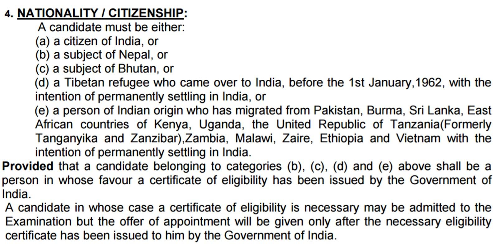 Nationality/ Citizenship