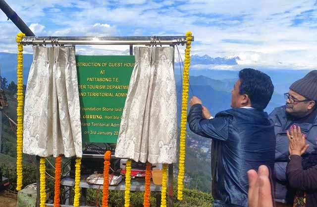 Tourist Bunglow, guest house at Pattabong, Bimal Gurung lays foundation stone