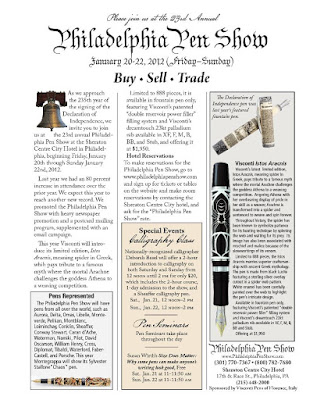 Come Join Us at the Philadelphia Pen Show