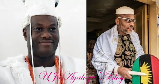 Ooni Ogunwusi Renames IPOB In Umuahia; Calls Them Indigenous People Of Brighter Nigeria.