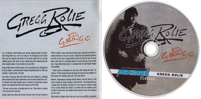 GREGG ROLIE - Gringo [AOR Heaven Classix digitally remastered] Out Of Print -booklet