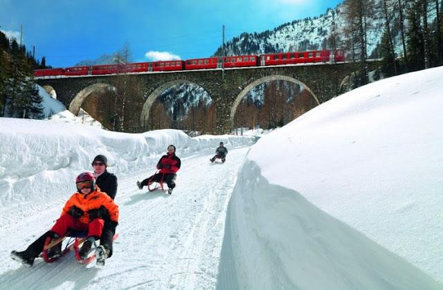 Slide dari Preda ke Bergu¨n, Swiss
