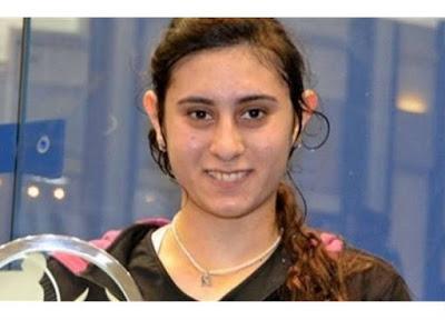 ابتسامة نور الشربيني لاعبة المنتخب الوطني الأول للعبة الإسكواش