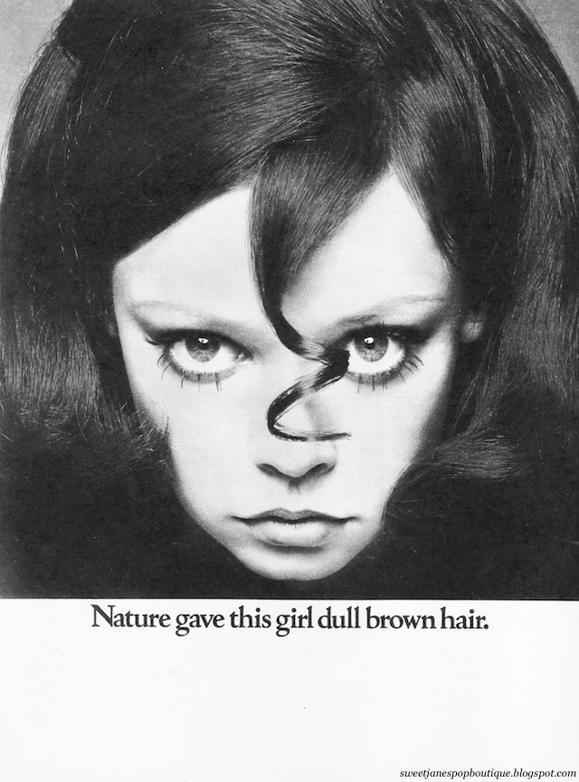 Vintage 1960s hair colour print advertisement from Jackie Magazine