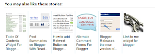 Contoh gambar related post pada blog