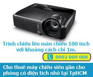 Cho thuê máy chiếu siêu gần cho phòng có diện tích nhỏ tại TpHCM