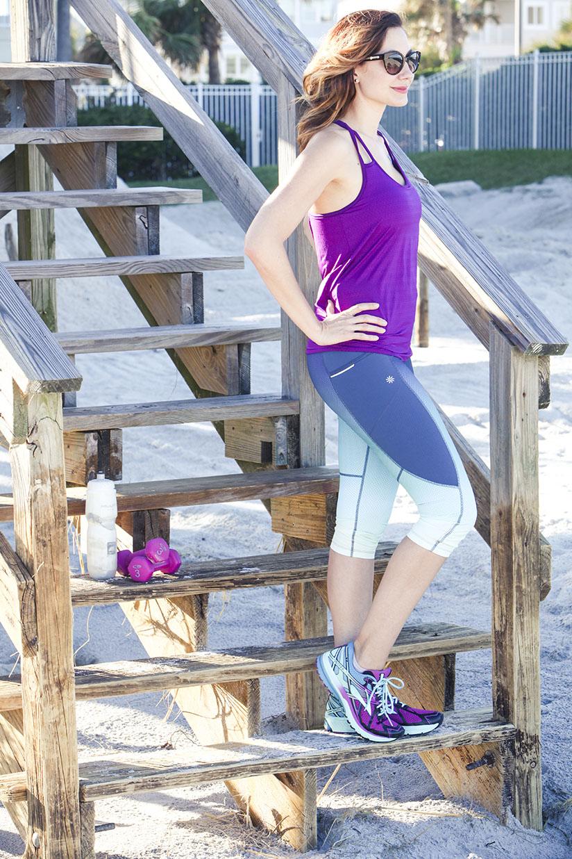 Amy West in athleta gear