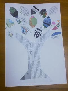 Recycled Newspaper Tree Craft Preschool Crafts For Kids