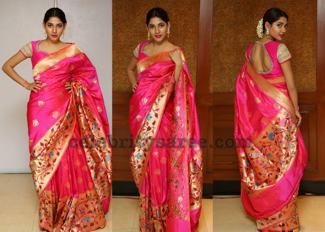 Priya Ninawe in Handloom Silk Saree