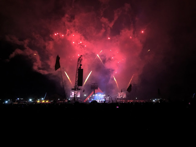 Fireworks at the Foo Fighters - Glastonbury 2017