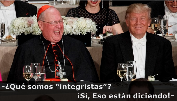 Cardenal Timothy Dolan y Donald Trump