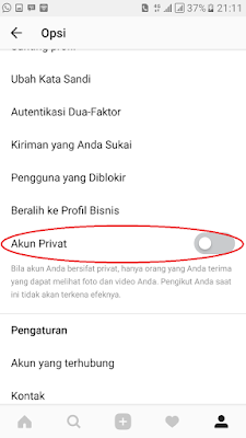 Cara Setting Akun Instagram Menjadi Private / Terkunci