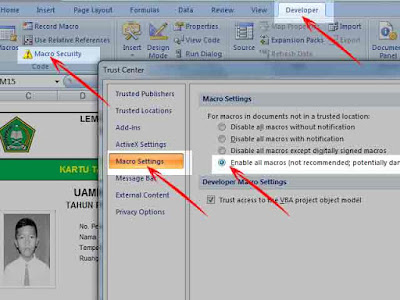Enable Macro di Microsoft Office Excel  Geveducation:  Cara Enable Macro di Microsoft Excel 2007