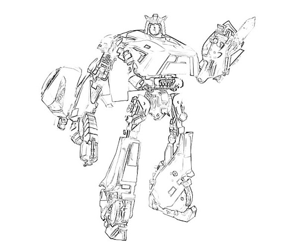 transformers cybertron coloring pages - photo#18