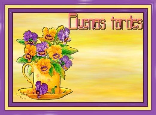 tarjetas de buenas tardes con flores