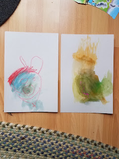Toddler Bunny Paintings