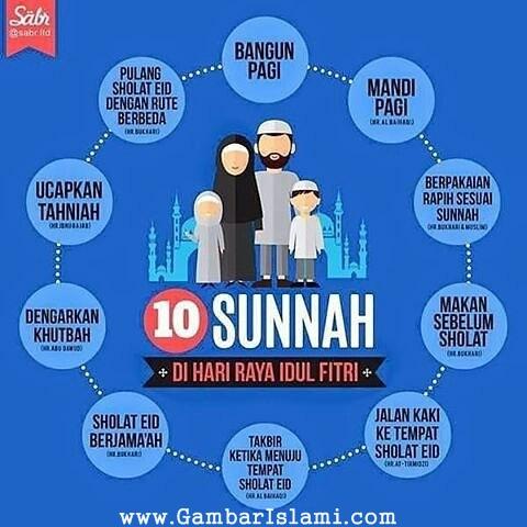 10 Sunnah Di Hari Raya Idul Fitri