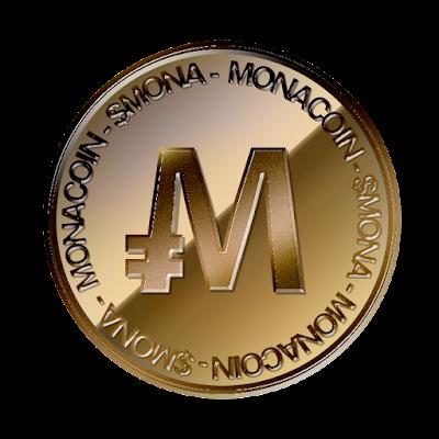 モナコイン(MonaCoin)裏面のフリー素材(銅貨ver)