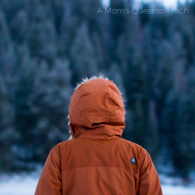 Person wearing winter parka