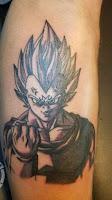 tatuaje personaje dragon ball 2018