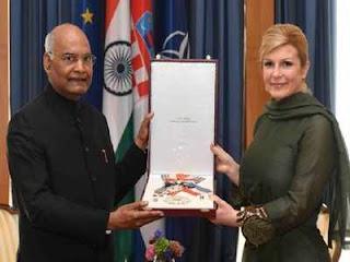 Croatia Honours President Ram Nath Kovind with its Highest Civilian Award