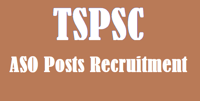 TS Jobs, TSPSC, TSPSC ASO posts, Assistant Statistical Officer Posts, ASO Recruitment, www.tspsc.gov.in,