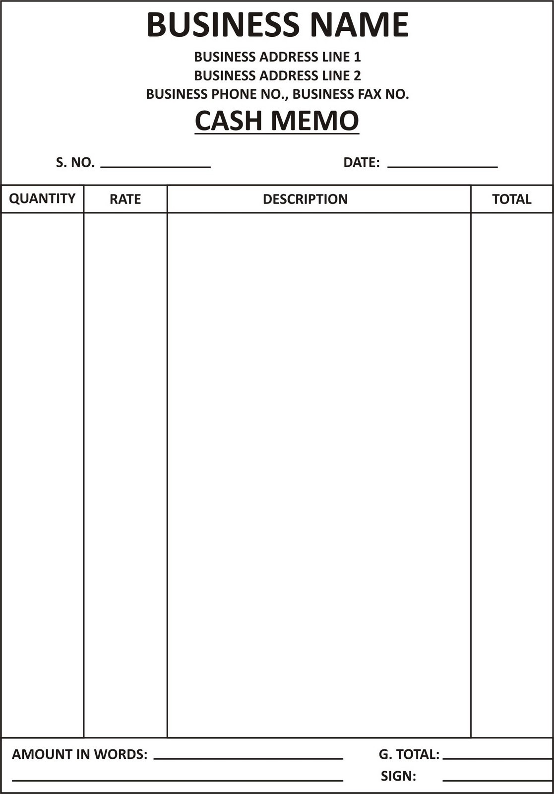 word document memo template