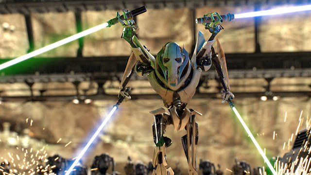 grevious with 4 sabers drawn