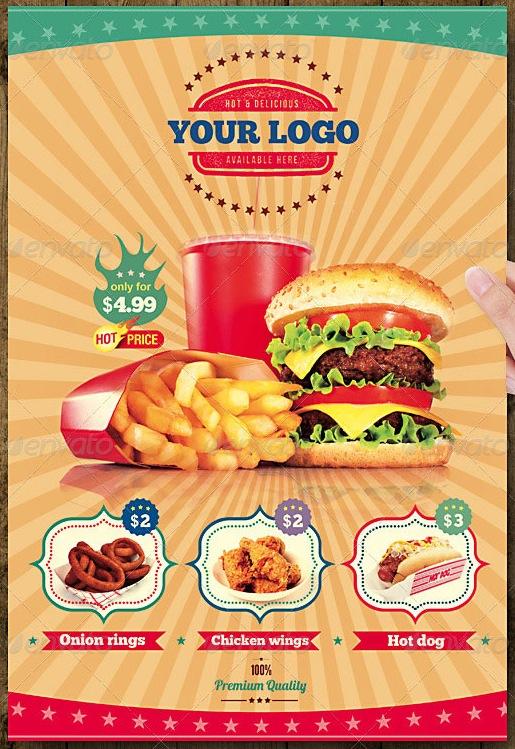 Contoh Pamflet Makanan