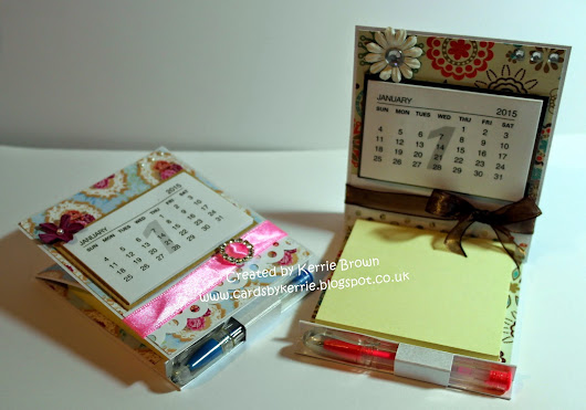 Easel Calendar/Notepad with integrated Penholder - Tutorial