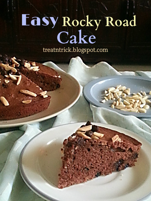 Easy Rocky Road Cake Recipe @ treatntrick.blogspot.com