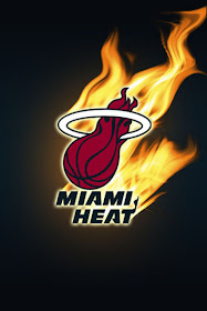 E Logos Miami Heat Logo In Black