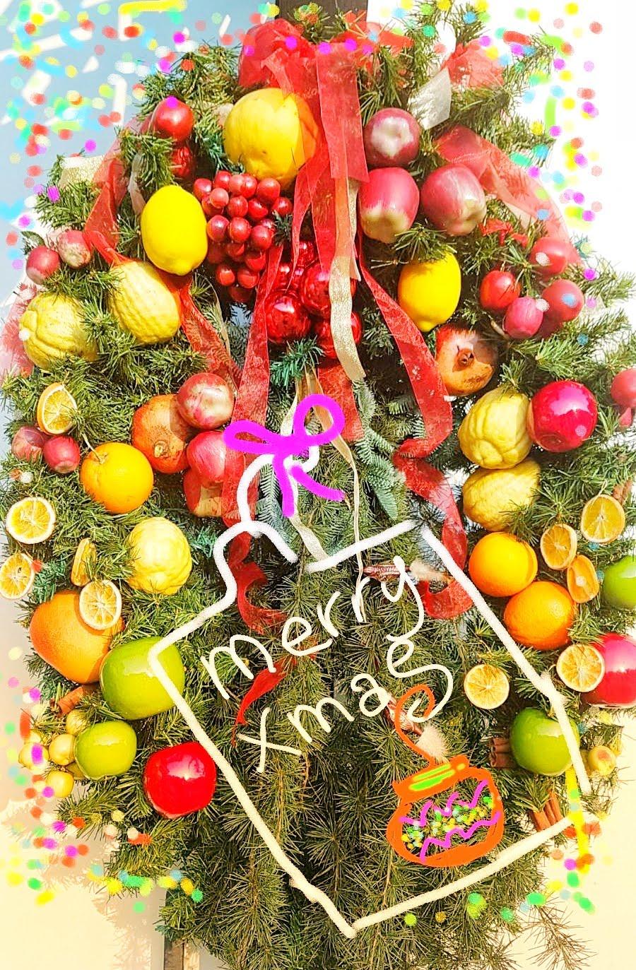 Addobbi Natalizi Con Frutta che ne dite di preparare questo bellissimo addobbo natalizio