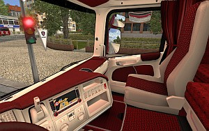 Red & White interior for Scania R