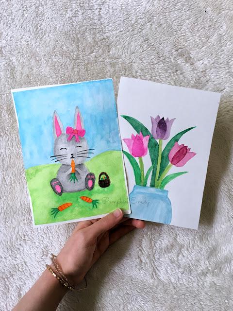 2 Spring DIY Watercolor Painting Ideas