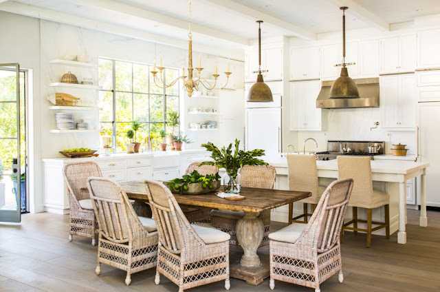 image result for traditional modern farmhouse white open kitchen California renovation Giannetti