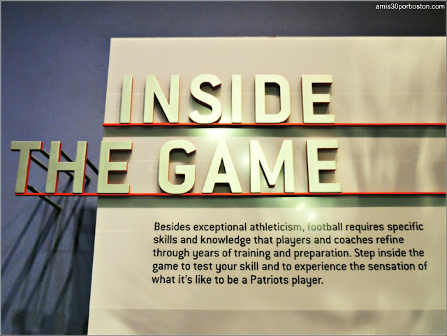 Exhibición Inside The Game en el Museo The Hall at Patriot Place