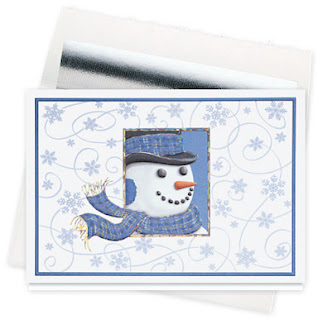 The Gallery Collection Christmas Cards.The Gallery Collection Snowman Swirl Holiday Greeting Card
